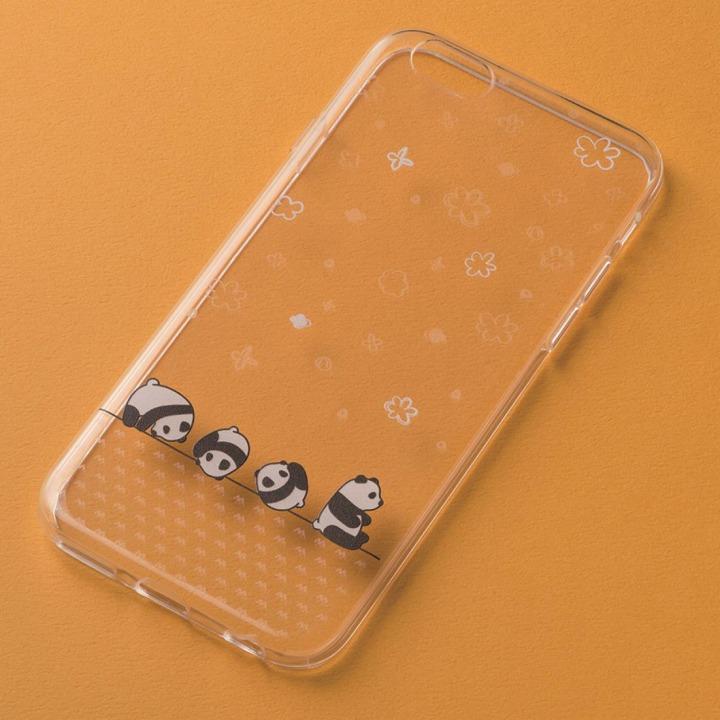 アニマルデザイン クリアソフトケース パンダ iPhone 6ケース
