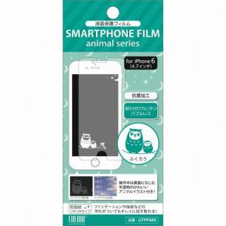 アニマルイラスト 液晶保護フィルム ふくろう iPhone 6フィルム