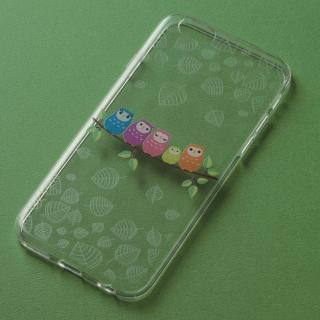 アニマルデザイン クリアソフトケース ふくろう iPhone 6ケース