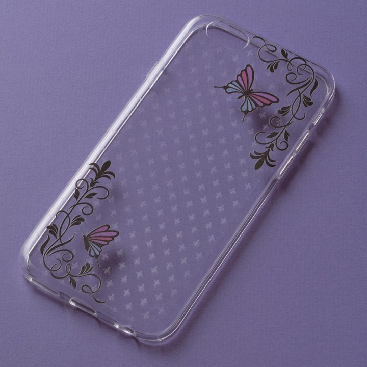 アニマルデザイン クリアソフトケース 蝶 iPhone 6ケース
