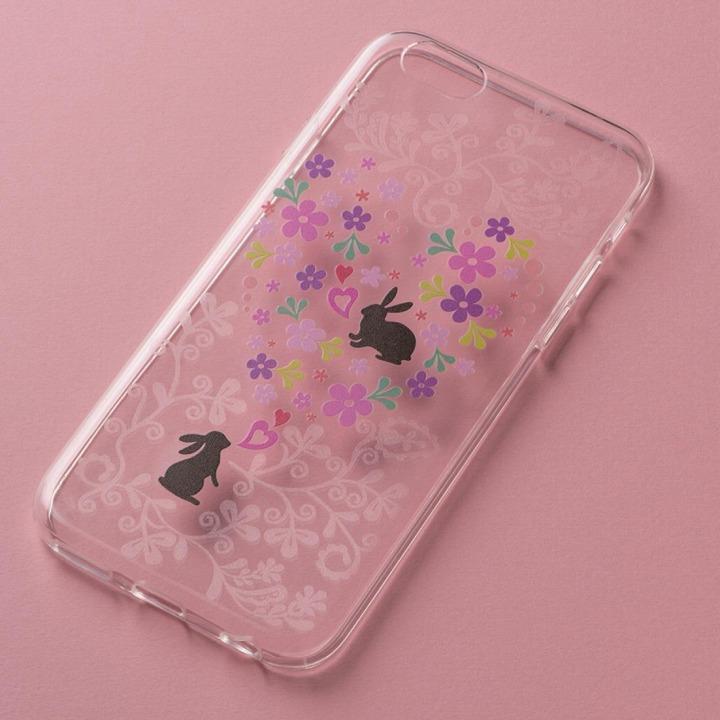 アニマルデザイン クリアソフトケース うさぎ iPhone 6ケース