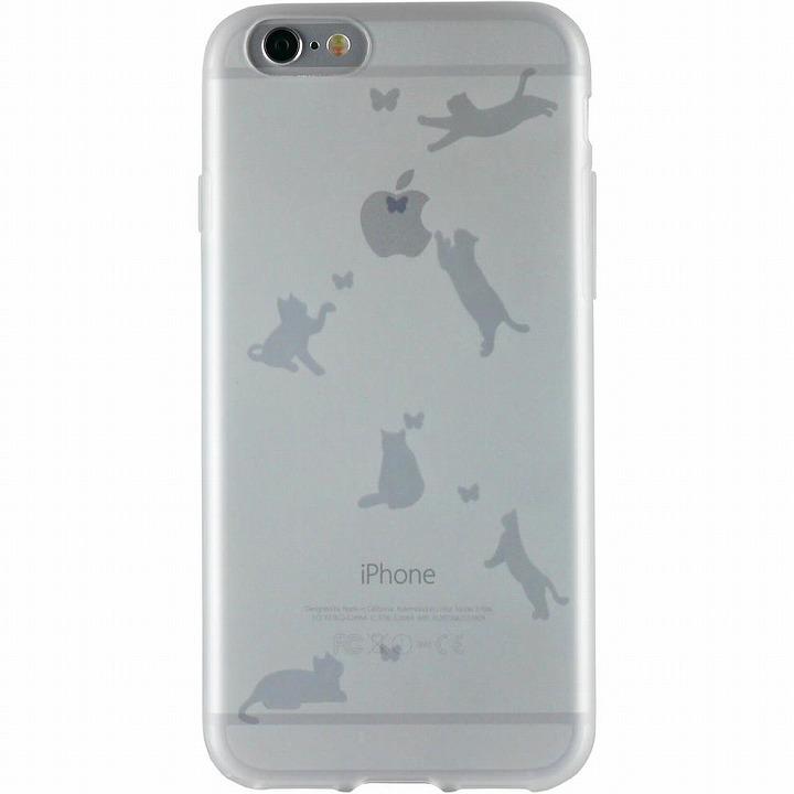 iPhone6 ケース クリアマットケース ネコ iPhone 6ケース_0