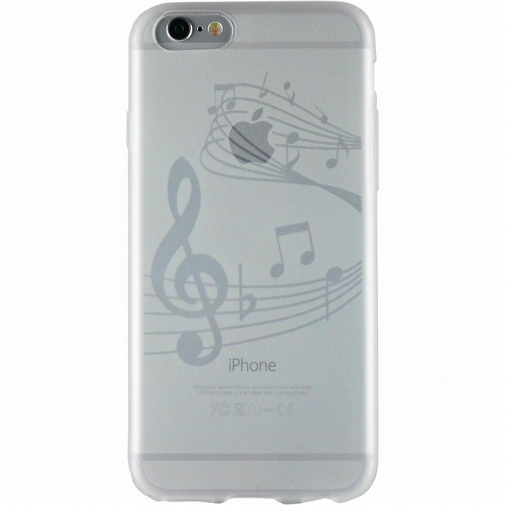 【iPhone6ケース】クリアマットケース 音符 iPhone 6ケース_0