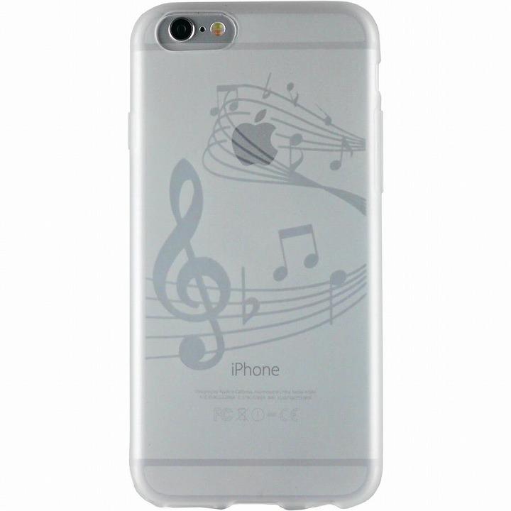 iPhone6 ケース クリアマットケース 音符 iPhone 6ケース_0