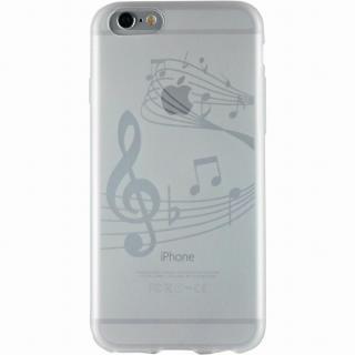 クリアマットケース 音符 iPhone 6ケース