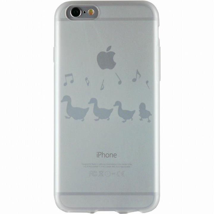 【iPhone6ケース】クリアマットケース アヒル iPhone 6ケース_0