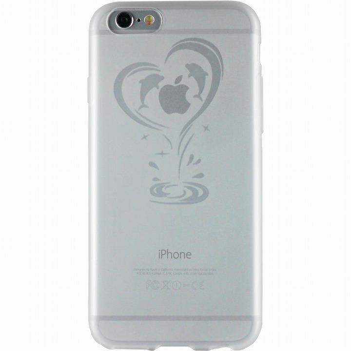 【iPhone6ケース】クリアマットケース イルカ iPhone 6ケース_0