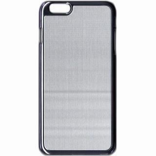 アトモスフィア デザインハードケース メタル風シルバー iPhone 6 Plusケース