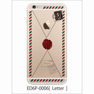 iPhone6 Plus ケース アトモスフィア クリアデザインハードケース 手紙 iPhone 6 Plusケース