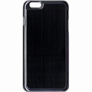 アトモスフィア デザインハードケース メタル風ブラック iPhone 6 Plusケース