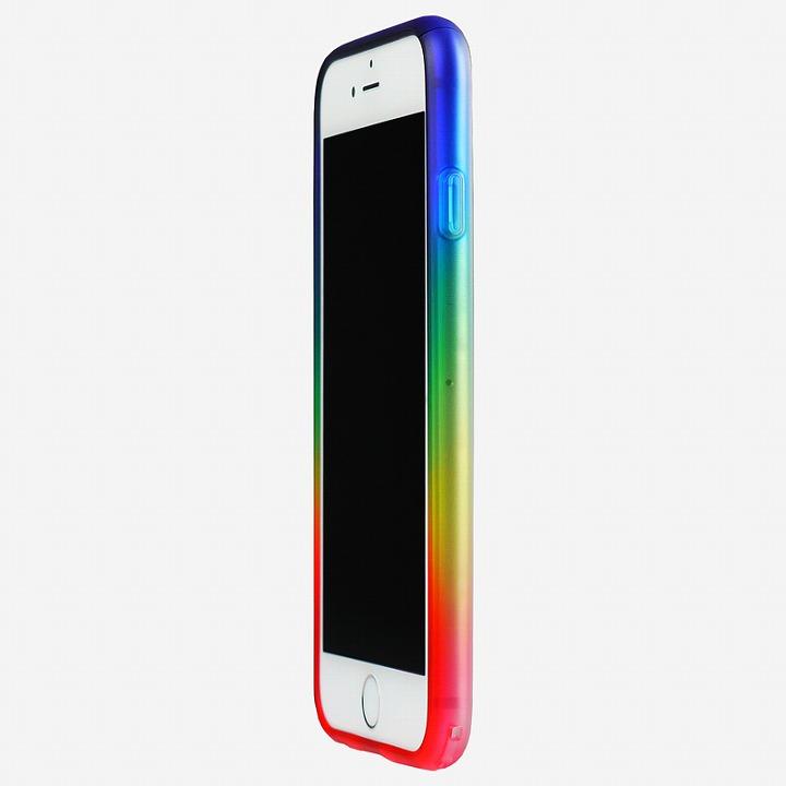 【iPhone6ケース】鮮やかなカラーリング 染 ソフトバンパー 虹 iPhone 6バンパー_0