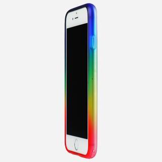 鮮やかなカラーリング 染 ソフトバンパー 虹 iPhone 6バンパー
