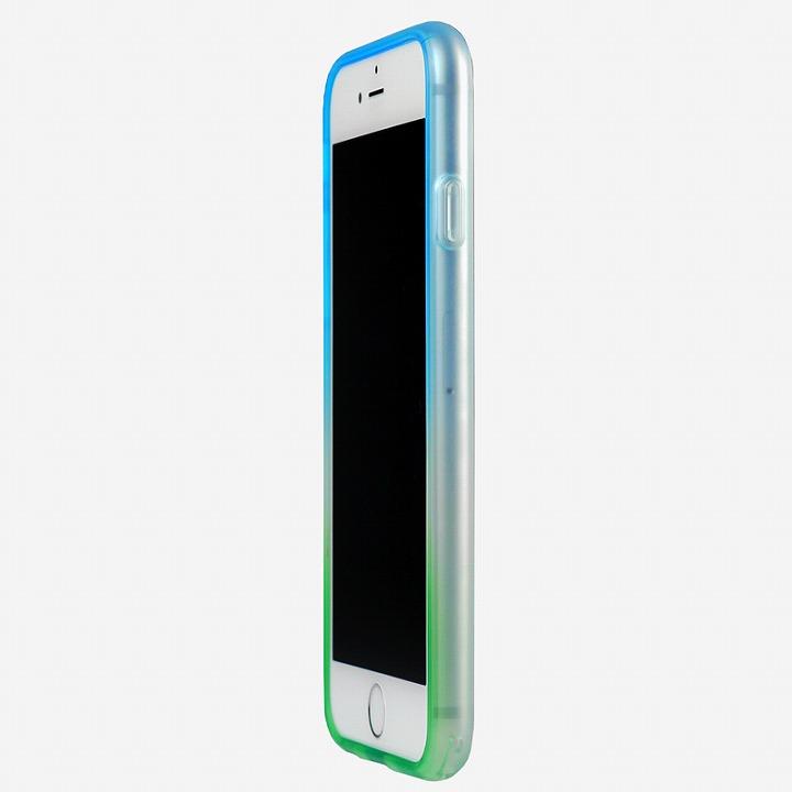鮮やかなカラーリング 染 ソフトバンパー 爽 iPhone 6バンパー