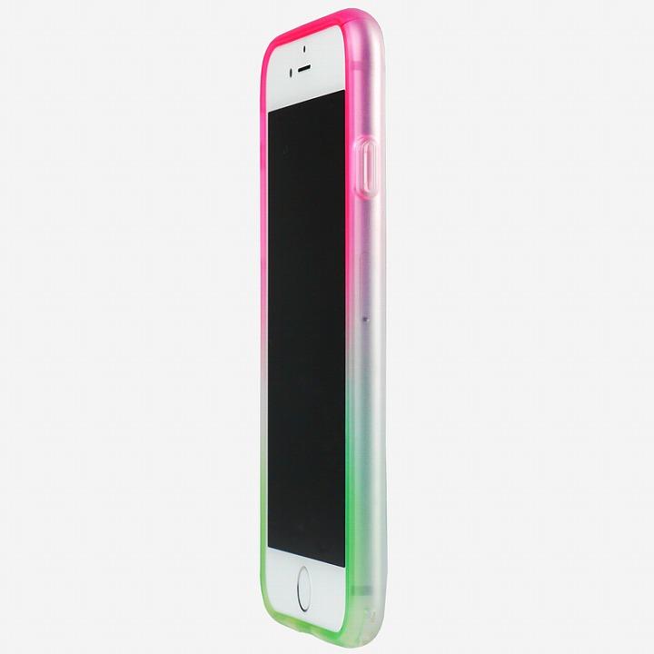 【iPhone6ケース】鮮やかなカラーリング 染 ソフトバンパー 桜 iPhone 6バンパー_0