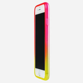 鮮やかなカラーリング 染 ソフトバンパー 蘭 iPhone 6バンパー