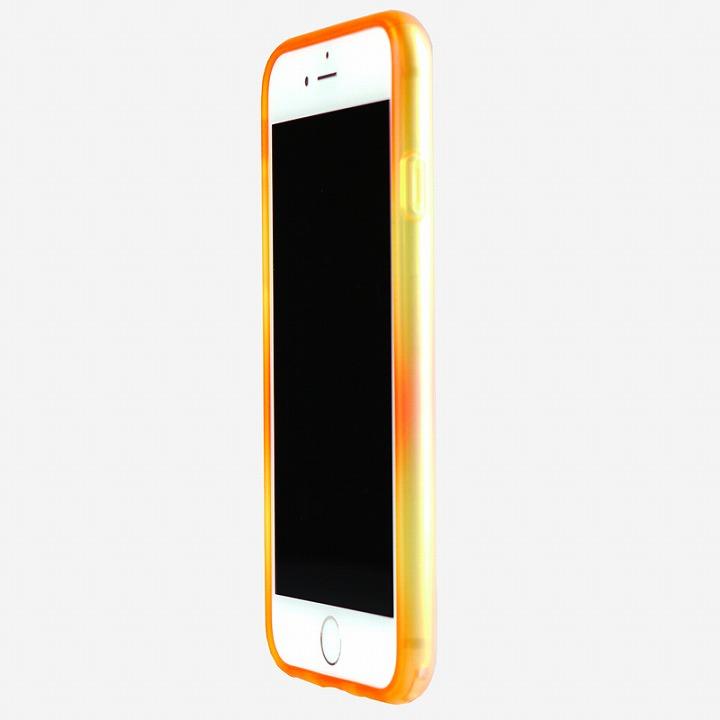 鮮やかなカラーリング 染 ソフトバンパー 橙 iPhone 6バンパー