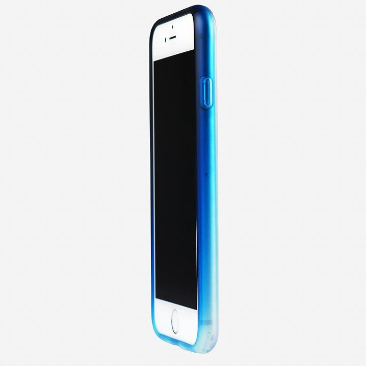 【iPhone6ケース】鮮やかなカラーリング 染 ソフトバンパー 藍 iPhone 6バンパー_0