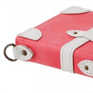 【iPhone6ケース】トローリー(旅行カバン)風手帳型ケース ピンク iPhone 6ケース_1