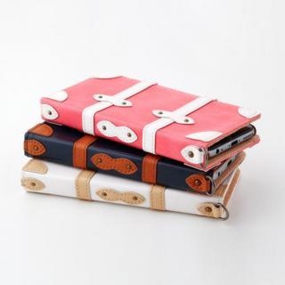 【iPhone6ケース】トローリー(旅行カバン)風手帳型ケース ピンク iPhone 6ケース_2