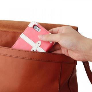 【iPhone6ケース】トローリー(旅行カバン)風手帳型ケース ピンク iPhone 6ケース_6