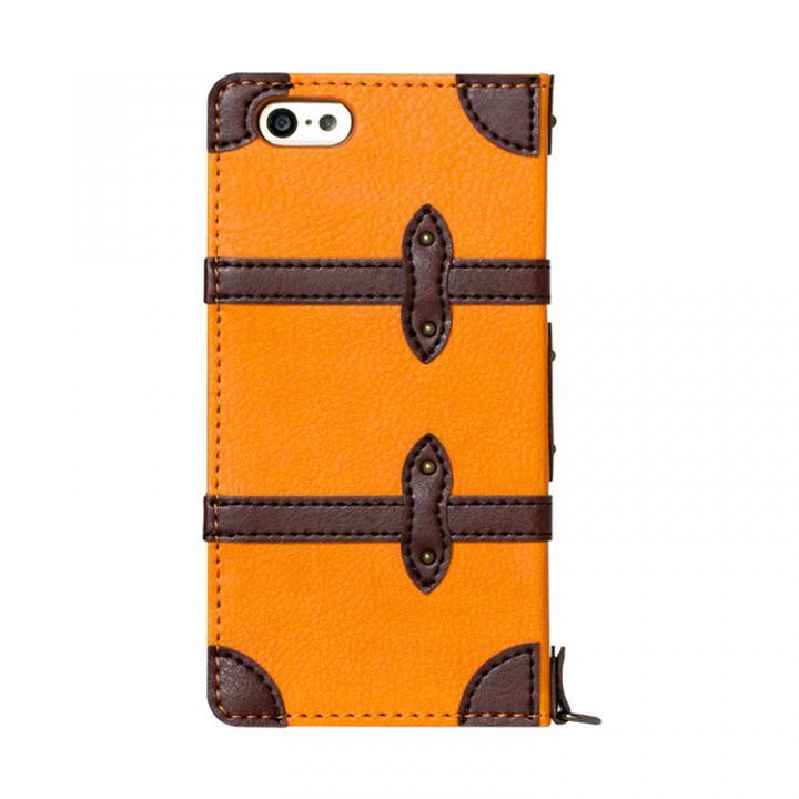 【iPhone6ケース】トローリー(旅行カバン)風手帳型ケース オレンジ iPhone 6ケース_0