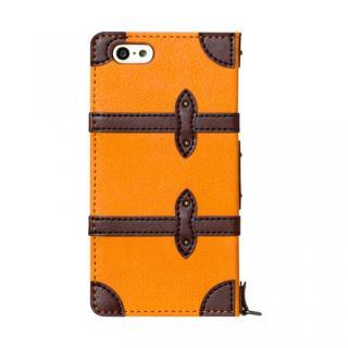 トローリー(旅行カバン)風手帳型ケース オレンジ iPhone 6ケース