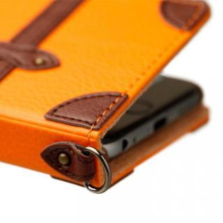 【iPhone6ケース】トローリー(旅行カバン)風手帳型ケース オレンジ iPhone 6ケース_1