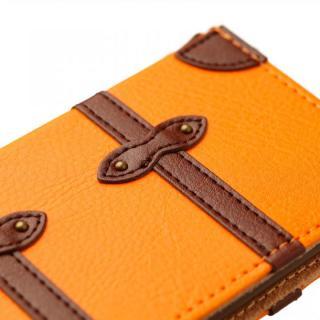 【iPhone6ケース】トローリー(旅行カバン)風手帳型ケース オレンジ iPhone 6ケース_2