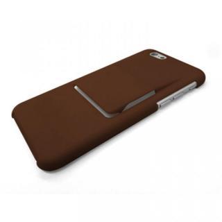 ケースとクリップが一体型 mononoff ダークブラウン iPhone 6s/6ケース