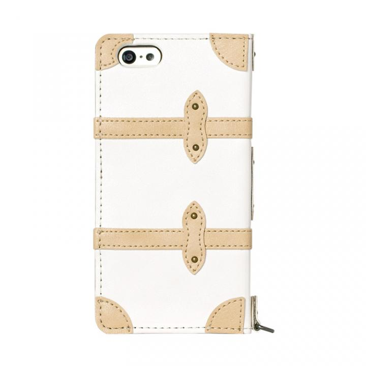 【iPhone6ケース】トローリー(旅行カバン)風手帳型ケース ホワイト iPhone 6ケース_0