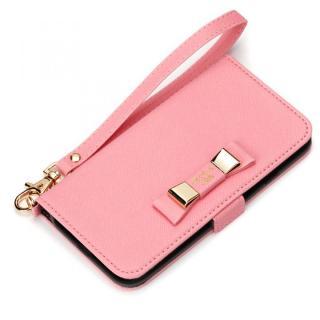 [2017夏フェス特価]Premium Style for girls 手帳型ケース ダブルリボン ピンク iPhone 7