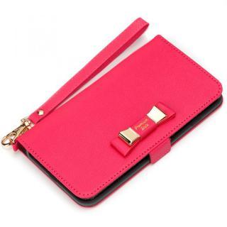 Premium Style for girls 手帳型ケース ダブルリボン ホットピンク iPhone 7 Plus