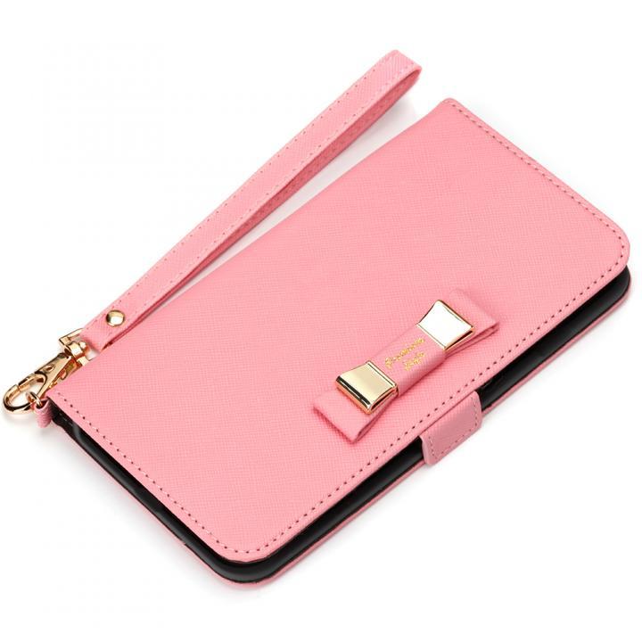 iPhone7 Plus ケース Premium Style for girls 手帳型ケース ダブルリボン ピンク iPhone 7 Plus_0
