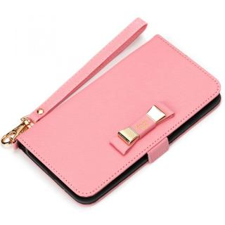 Premium Style for girls 手帳型ケース ダブルリボン ピンク iPhone 7 Plus