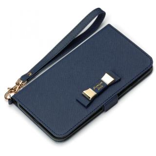 Premium Style for girls 手帳型ケース ダブルリボン ネイビー iPhone 7 Plus