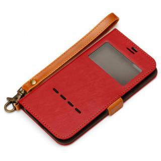 Premium Style 窓付き手帳型ケース ワインレッド iPhone 7