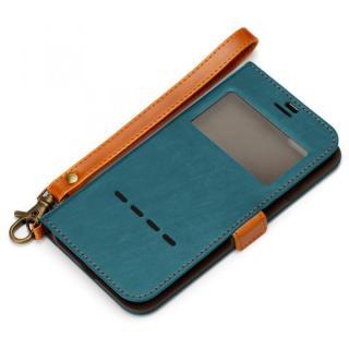 Premium Style 窓付き手帳型ケース ブルー iPhone 7