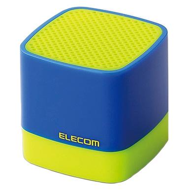キューブ型 超コンパクトサイズBluetoothスピーカー イエロー/ブルー