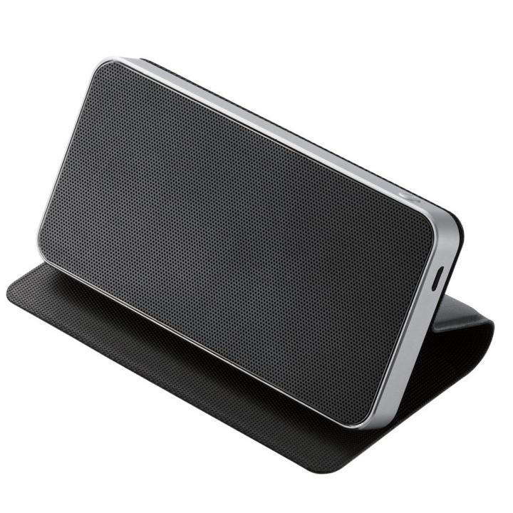 フラップ付Bluetoothスピーカー ブラック_0