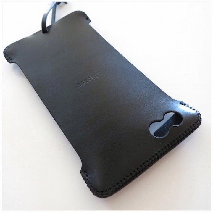 iPhone6 Plus ケース abicase レザーケース ブラック iPhone 6 Plusケース_0