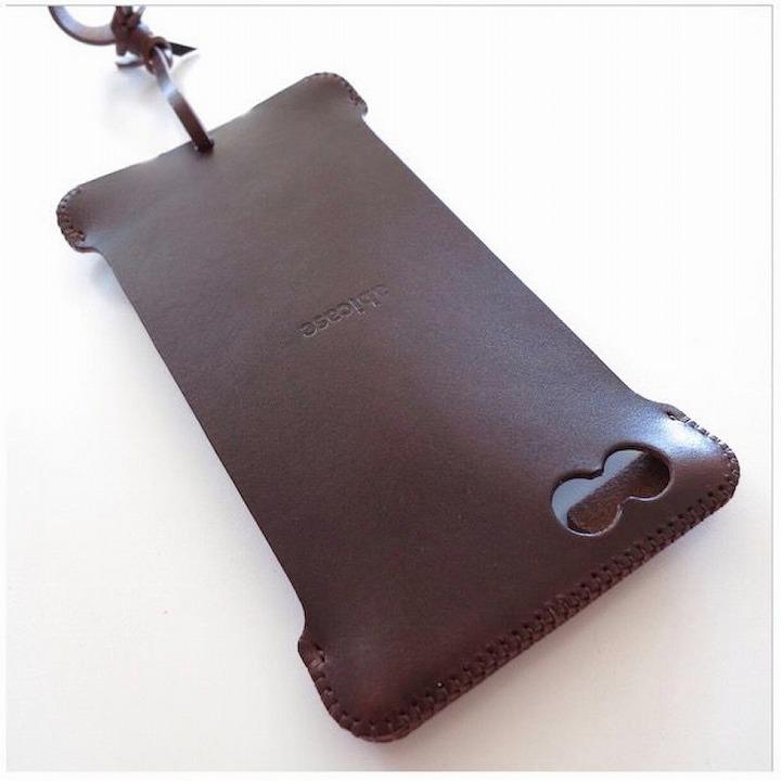 【iPhone6 Plusケース】abicase レザーケース チョコ iPhone 6 Plusケース_0