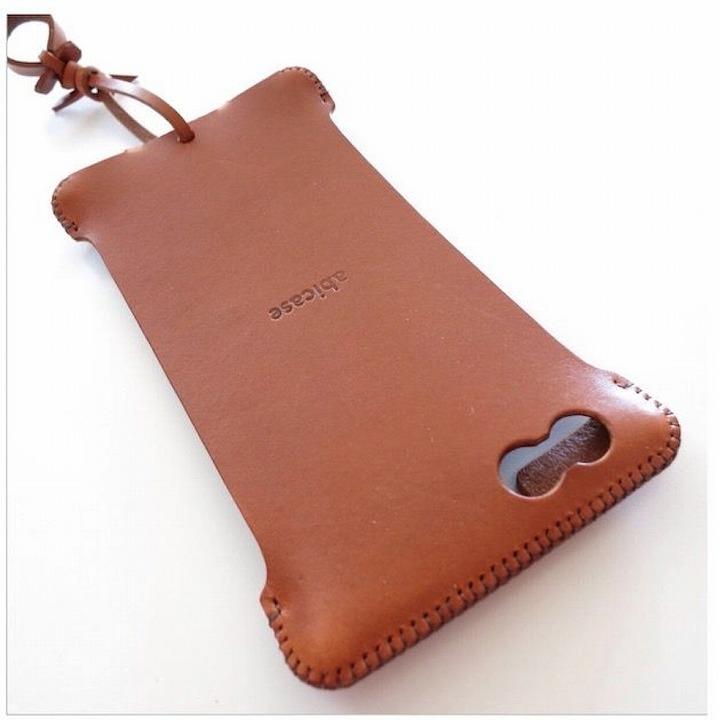 【iPhone6 Plusケース】abicase レザーケース キャメル iPhone 6 Plusケース_0