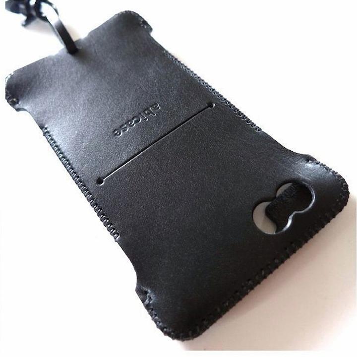 abicase レザーウォレットケース ブラック iPhone 6ケース