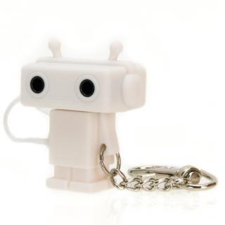 Sound Share Bot ロボット型のイヤフォンジャック分配器 ホワイト