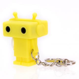 Sound Share Bot ロボット型のイヤフォンジャック分配器 イエロー