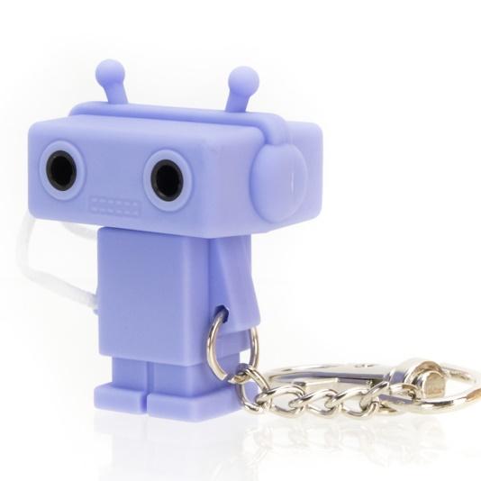 Sound Share Bot ロボット型のイヤフォンジャック分配器 ブルー_0
