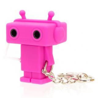 Sound Share Bot ロボット型のイヤフォンジャック分配器 ピンク
