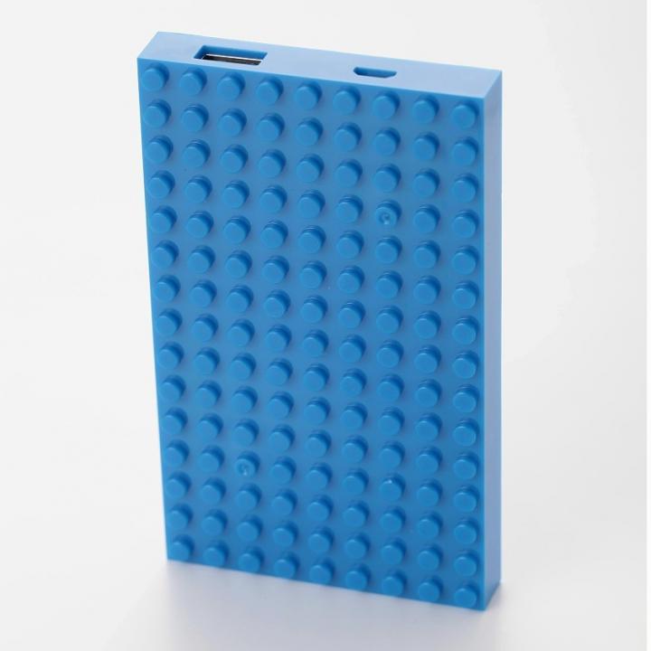 [4,200mAh]レゴ型モバイルバッテリー Power brick ブルー_0