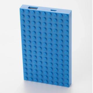 [4,200mAh]レゴ型モバイルバッテリー Power brick ブルー?送料無料