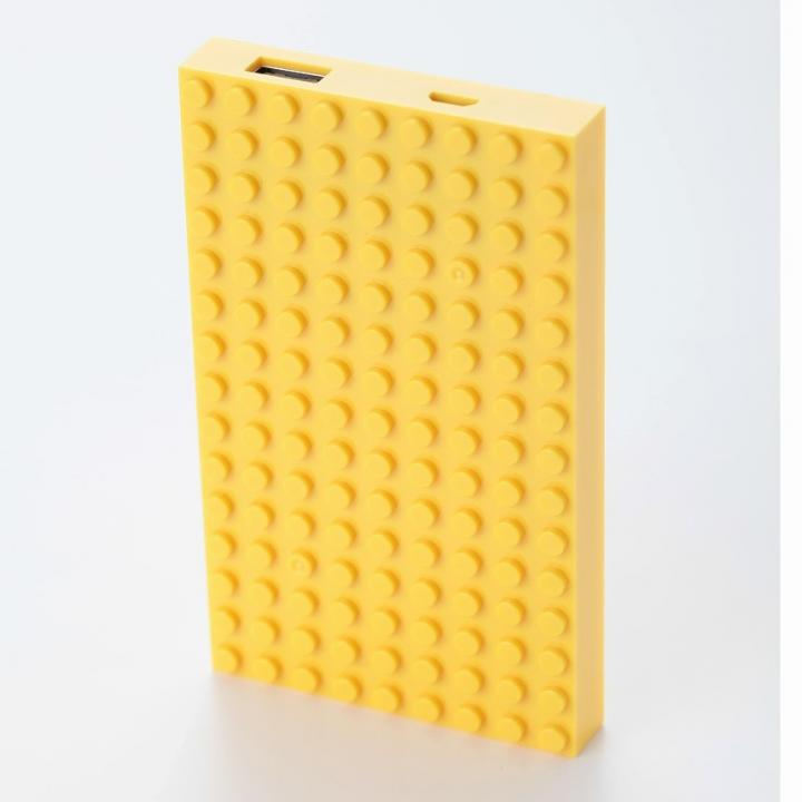 [4,200mAh]レゴ型モバイルバッテリー Power brick イエロー_0